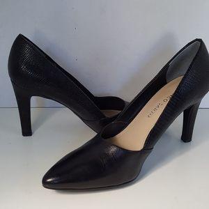 Franco Sarto Black Leather High Heels Pumps 7M